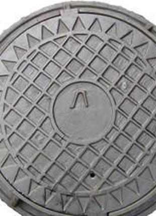 Люк канализационный тип Л (ЛА-15) крышки-600 мм, d корпуса-760...