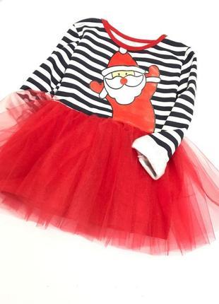 Новогоднее платье с дедом морозом