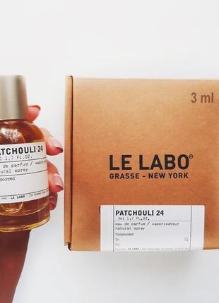 Le Labo Patchouli 24 _Оригинал EDP_3 мл затест_парф.вода