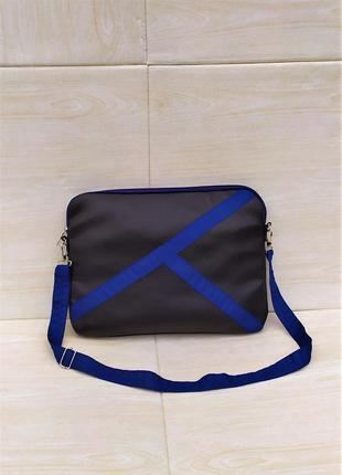 Черная сумка для ноутбука handmade