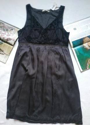"""Красивое графитно-серое платье с черной сеткой по верху """"cream"""""""