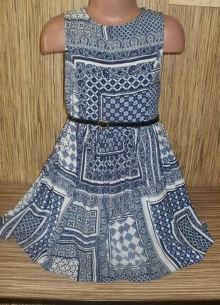 Летнее платье на 6-7 лет