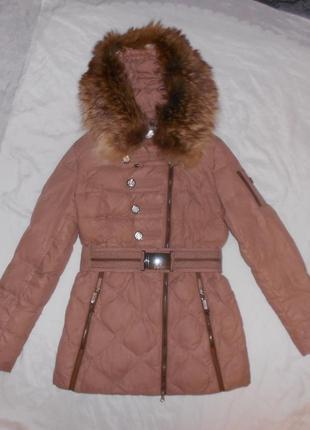 Скидка 13.12!! peercat зимний пуховик куртка, 70% пух, опушка ...