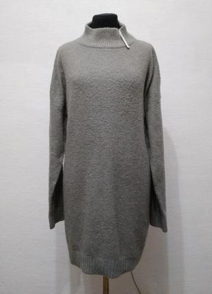 Стильный теплый удлиненный свитер asos большого размера