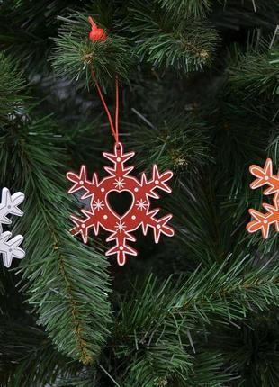 Новогодняя подвеска Снежинка SKL11-208832