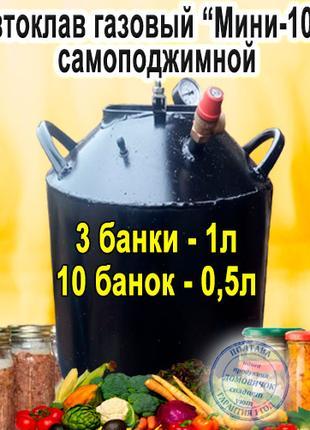 """Автоклав Самоподжимной Газовый """"Мини-10Ч"""""""