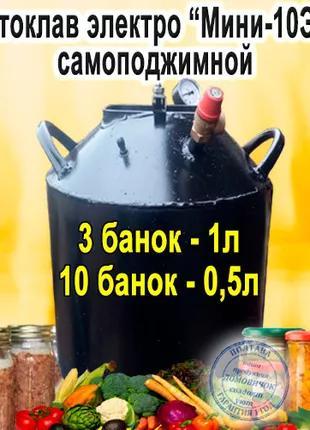 """Автоклав Самоподжимной Электрический """"Мини-10ЭЧ"""""""