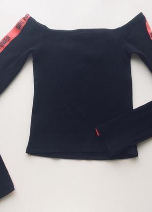 Черная водолазка с открытыми плечами от select, натуральная тк...