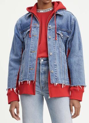 Джинсовая куртка, джинсовка с капюшоном от levi's levis оригин...
