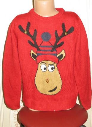 Новогодний свитер 7-8лет