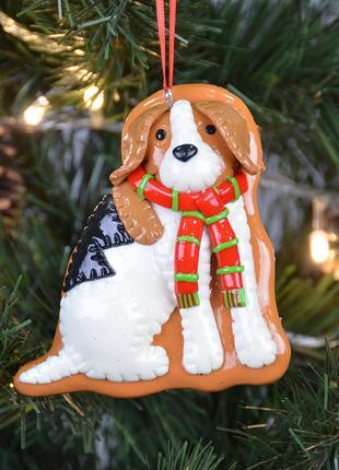 Новогодняя подвеска Собака SKL79-208837