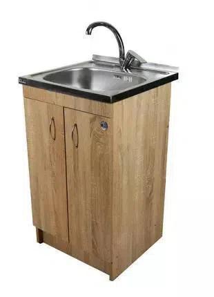 Кухонная мойка с тумбой 50 х 50см