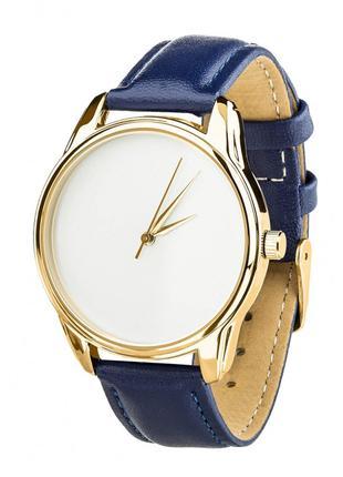Часы Ziz Минимализм, ремешок ночная синь, золото и дополнитель...