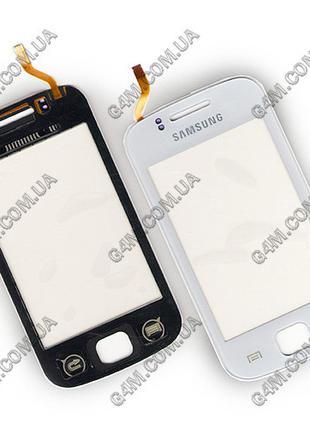 Тачскрин для Samsung S5660 Galaxy Gio с клейкой лентой, белый