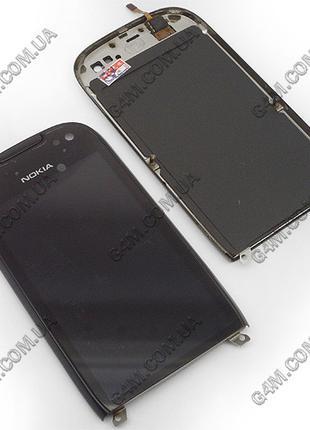 Тачскрин для Nokia 701 с черной рамкой (Оригинал)