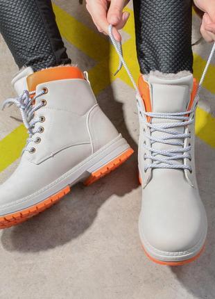 Теплые зимние женские ботинки