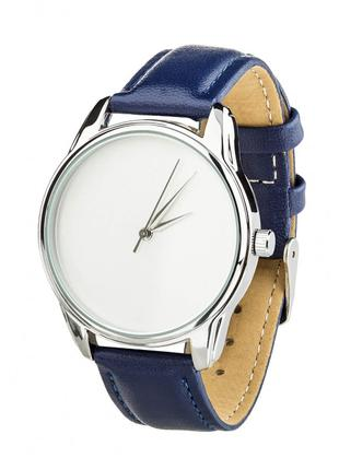 Часы Ziz Минимализм, ремешок ночная синь, серебро и дополнител...