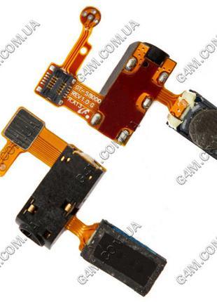 Шлейф Samsung S8000 с коннектором наушника, динамиком и микроф...