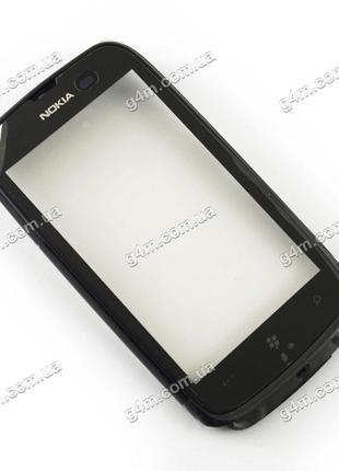 Тачскрин для Nokia Lumia 610 с черной рамкой (Оригинал)