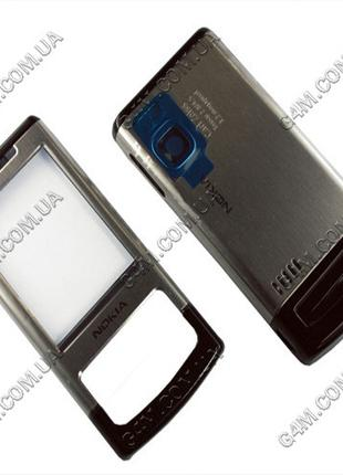 Корпус Nokia 6500 slide серебристый (High Copy)