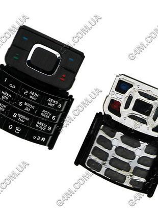 Клавиатура Nokia 6500 slide чёрная, русская, High Copy