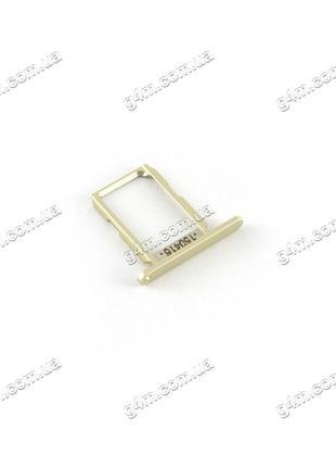 Держатель Sim карты Samsung G920F Galaxy S6 золотистый