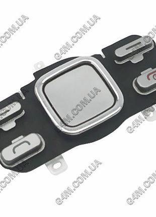 Клавиатура Nokia 6600i slide верхняя, серая, русская (Оригинал...