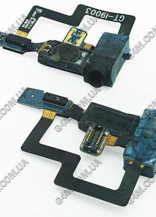 Шлейф Samsung i9003 Galaxy SL с коннектором наушника и динамиком