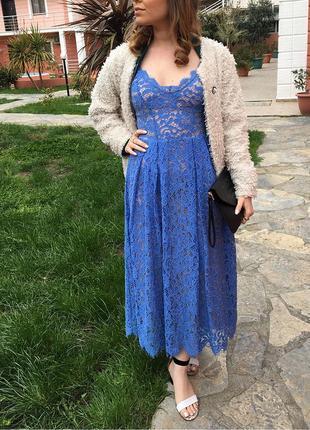 Кружевное ажурное платье сарафан h&m