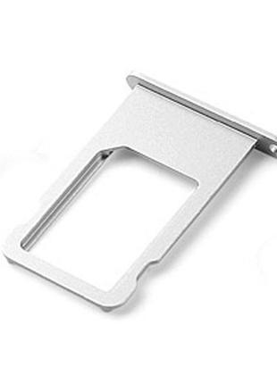 Держатель Sim карты Apple iPhone 6 серебристый