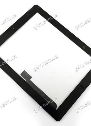 Тачскрин для Apple iPad 3, iPad 4 с клейкой лентой и кнопкой м...