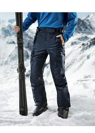 Зимние лыжные мужские термоштаны на тинсулейте crivit размер 50