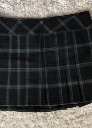 Клетчатая теннисная мини юбка