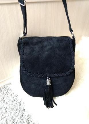 Красивая замшевая сумка borse in pelle новая
