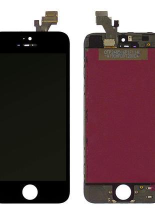 Дисплей для iPhone 5 с сенсором (Black) Original OEM в рамке