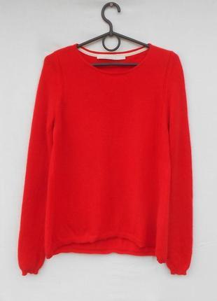 Красный кашемировый свитер длинный рукав