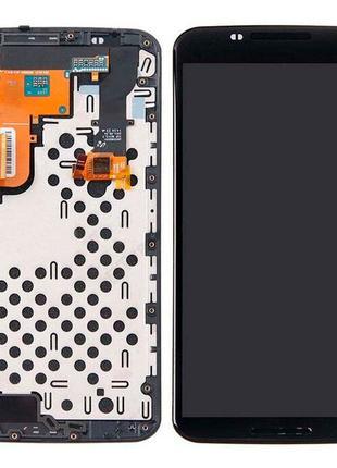 Дисплей для Motorola XT1100 Nexus 6 с сенсором (Black) в рамке