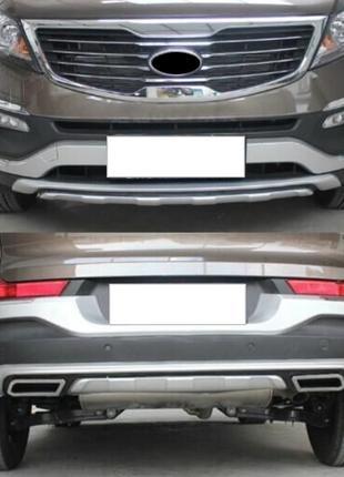 Накладки на бампер Chrome для Kia Sportage 3 (2010-2015 гг.)