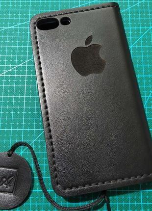 Кожаный чехол на Apple iPhone под заказ, ручная работа.
