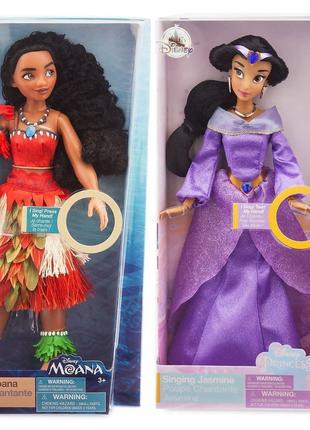 Поющие куклы Принцессы Жасмин и Моана Disney