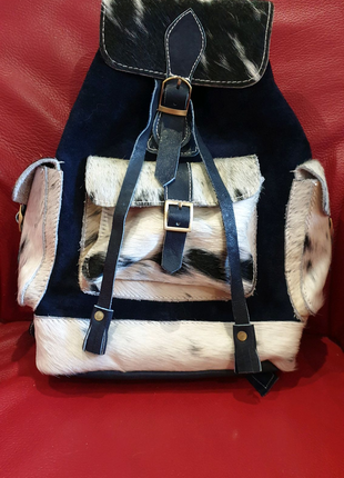 Продам рюкзак, натуральная замша и мех