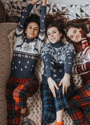 Красивые Новогодние свитера с Оленями