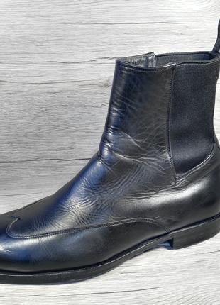 GUCCI 40p ботинки сапоги челси туфли мужские кожа Италия