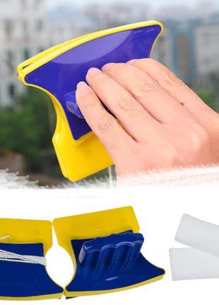 Двусторонняя магнитная щетка для мытья окон Double Sided Glass...