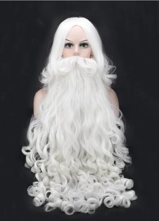 Парик и борода (60 см) Деда Мороза