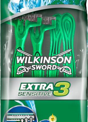 Станки одноразовые WILKINSON SWORD Extra3 Sensitive 4 шт.