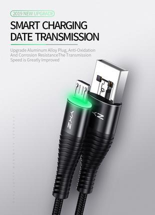 YKZ светодиодный кабель Micro USB для быстрой зарядки 3А