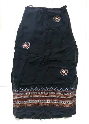Длинная юбка в народном стиле, стиле этно, бохо.