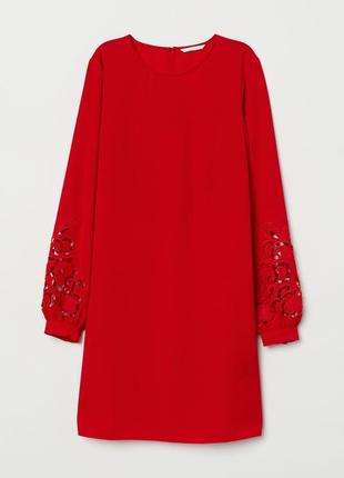 Красное платье от h&m