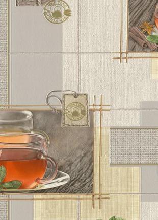 Обои виниловые на бумажной основе Славянские обои Expromt Чай ...